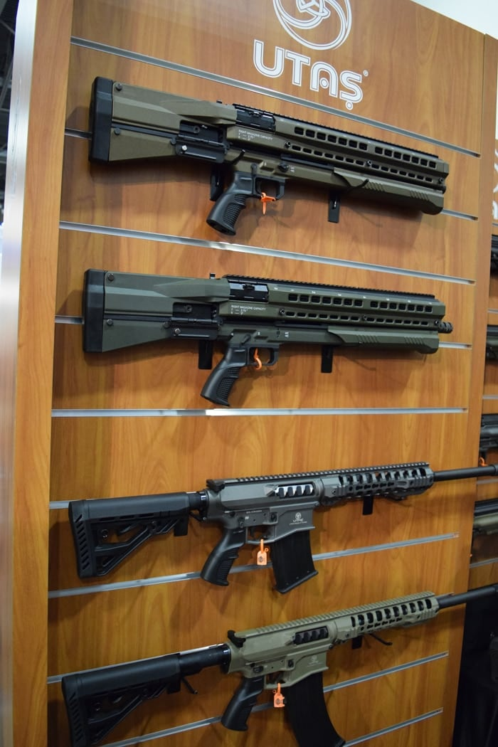 Some UTAS shotguns at SHOT Show 2018 in Las Vegas. (Photo: Daniel Terrill/Guns.com)
