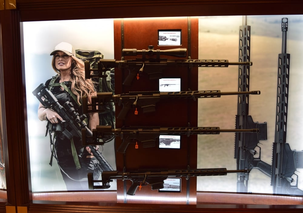 Need some Ruger rifles? On display at SHOT Show 2018 in Las Vegas. (Photo: Daniel Terrill/Guns.com)