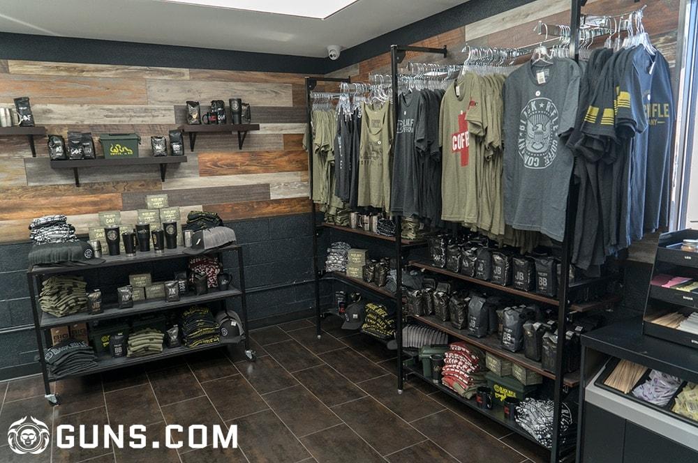 Merchandise galore at the Black Rifle Coffee Company's flagship store in Las Vegas, Nevada. (Photos: Ben Philippi/Guns.com)