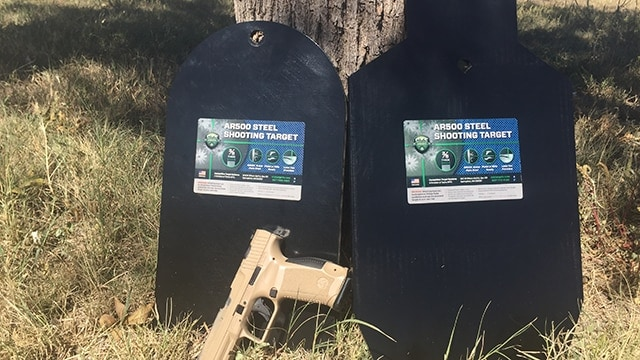 CTS targets can be used for rifle or pistol work. (Photo: Eve Flannigan