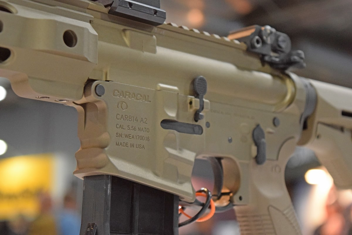 The Caracal CAR814 A2 operates just like any other AR rifle. (Photo: Daniel Terrill/Guns.com)