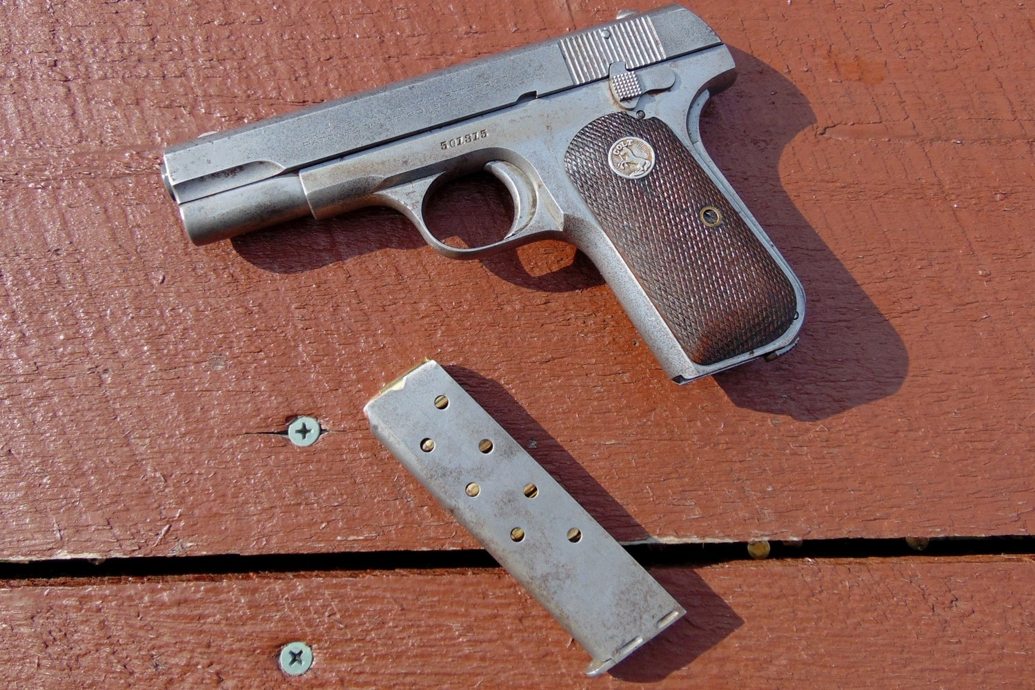 The Colt 1903 pistol holds eight rounds in the magazine. (Photo: David LaPell)