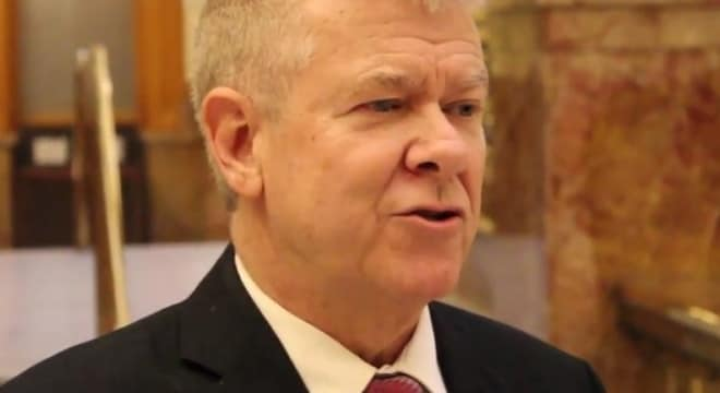 """""""The idea behind constitutional carry is that you should be able to carry a concealed handgun without applying for government permission or paying an expensive fee, if you are otherwise legally able to carry a firearm,"""" said bill sponsor state Sen. Tim Neville. (Photo: Colorado Senate Republicans)"""