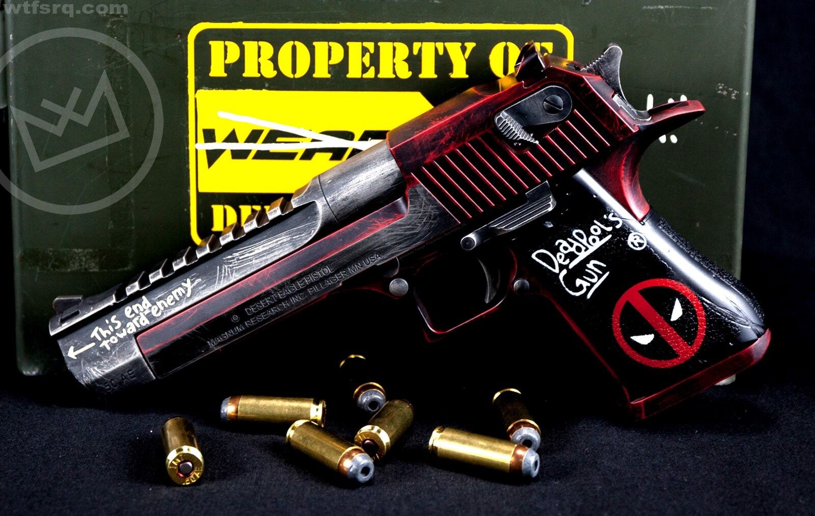 Sarasota, Florida's WTF has made well-received Deadpool-themed Colts and ARs in the past, but this is their first run of Desert Eagles (Photos: WTF)