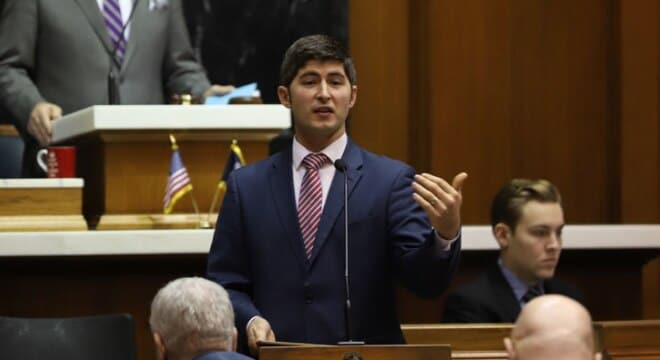 State Rep. Tim Wesco, R-Osceola, presents his legislation on the Indiana House floor Monday, Feb. 5, 2018, at the Statehouse in Indianapolis. (Photo: Indiana House Republicans)