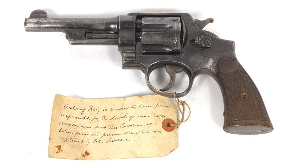 This S&W once was owned by Turkish officer Ashraf Bey, then picked up by Lawrence of Arabia after a one-sided discussion and later found its way to the UK's National Army Museum (Photo: NAM)