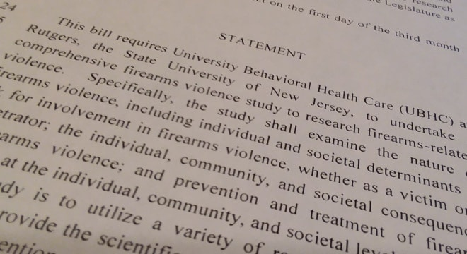 allocate $400,000 in public funds to Rutgers' University Behavioral Health Care and the School of Criminal Justice to study the nature of firearms violence from the perspectve of the victim and perpetrator as well as larger community and societal consequences (Photo: Chris Eger/Guns.com)