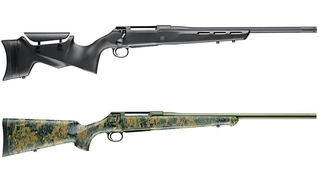 The S100 Pantera, top, and S100 Cherokee are just two of the five new variants on the Sauer 100 rifle line. (Photo: Sauer)