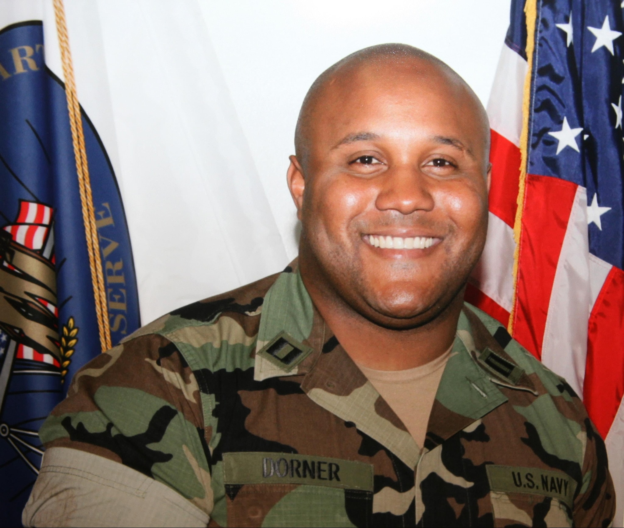 Undated photo released by the Los Angeles Police Department shows suspect Christopher Dorner in his naval uniform (Photo: LAPD)