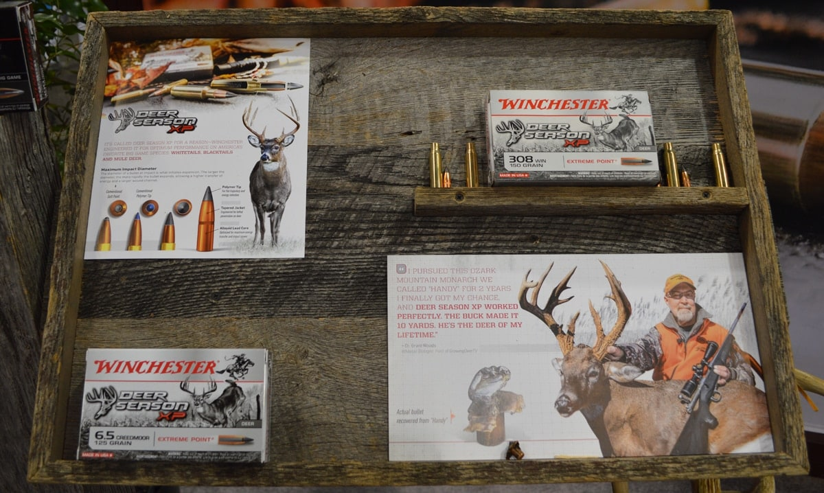 Winchester Deer Season display at SHOT where 6.5 Creedmoor was added to the lineup. (Photo: Kristin Alberts/Guns.com)