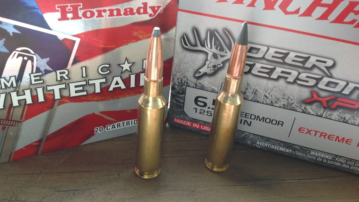 Two of the most affordable 6.5 ammo choices for deer hunters -- Horandy American Whitetail with the soft point and Winchester Deer Season XP ballistic tip. (Photo: Kristin Alberts/Guns.com)