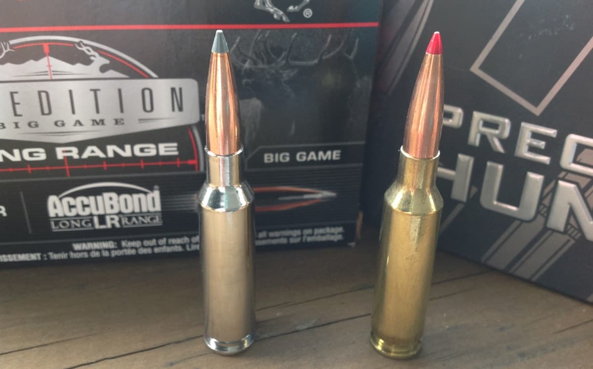 Our two long range hunting faves -- Winchester Expedition Big Game and Hornady Precision. (Photo: Kristin Alberts/Guns.com)