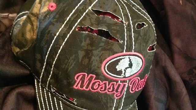 Another option from Mossy Oak that doesn't disappear in the blind. (Photo: Kristin Alberts)