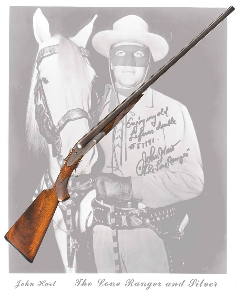An engraved Lefever H Grade shotgun that has been owned by both the Lone Ranger (John Hart), who purchased it from his friend Tonto (Jay Silverheels), is up for grabs. (Photo: RIA)