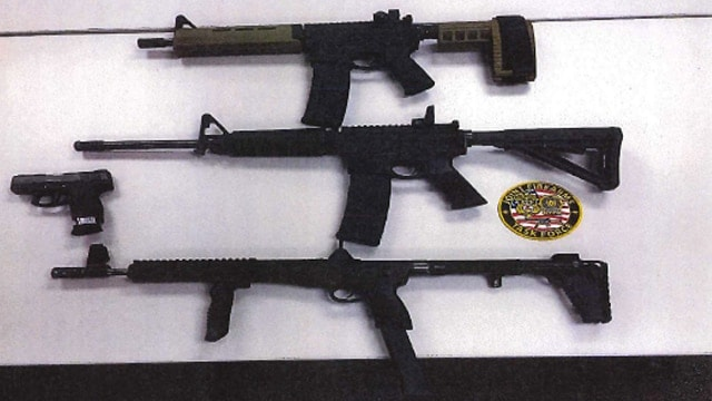 Prosecutors allege Moore illegally sold these weapons to an undercover officer on Dec. 13, 2017. (Photo: Justice Dept.)