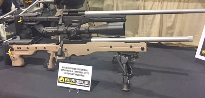 One of Wolf Precision's custom built rifles on display at the 2018 Great American Outdoor Show in Harrisburg, Pennsylvania. (Photo: Christen Smith/Guns.com)