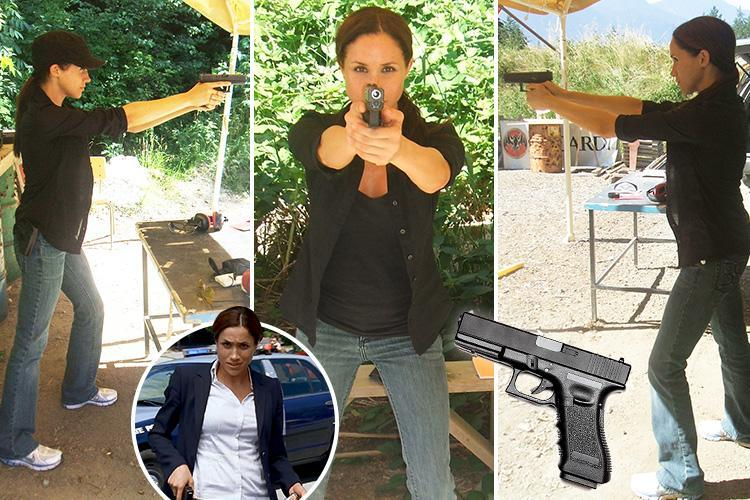 The Sun recently fell into some images of former actress Meghan Markle with a Glock in 2009 (Photos: The Sun)