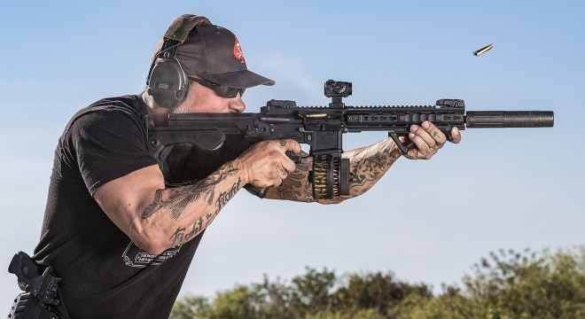 Bump stocks are set to become illegal in Florida come October, and a group of device owners are suing the state over the looming ban (Photo: Slide Fire)