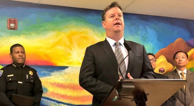 San Francisco's recently appointed interim mayor, Mark Farrell, heralded increases in the city's staff dedicated to gun recovery. (Photo: Mayor's office)