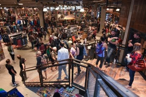 Customers shop during the REI DC Flagship Grand Opening on Friday, Oct. 18, 2016 in Washington.(Kevin Wolf/AP Images for REI)