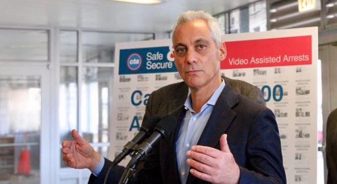 Chicago Mayor Rahm Emanuel wants gun shops licensed in a manner similar to barber shops, which it turns out is a complicated process. (Photo: Mayor's office)