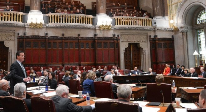 Senate Democrats were able to force a vote on a series of gun control bills in the Republican-controlled chamber, but didn't have enough supporters to see them pass. (Photo: nysenate.gov)
