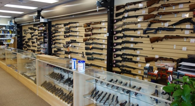 The counter at Precise Shooter, a sporting goods store in Lynnwood, Washington that recently moved from Seattle to escape that city's gun tax. The store says they paid thousands in retail sales tax to Lynnwood instead. (Photo: Precise Shooter)