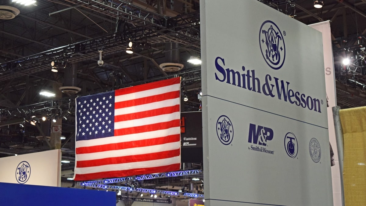 The Smith & Wesson booth during SHOT Show 2018 in Las Vegas. (Photo: Daniel Terrill/Guns.com)