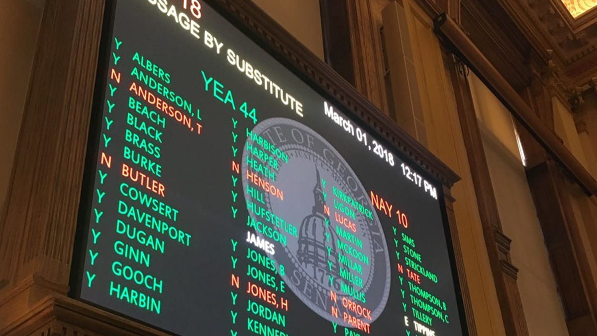 Georgia lawmakers passed the tax bill, which cuts $5.7 billion in personal and business income tax, overwhelmingly 44-10 on March 1. (Photo: Casey Cagle/Twitter)