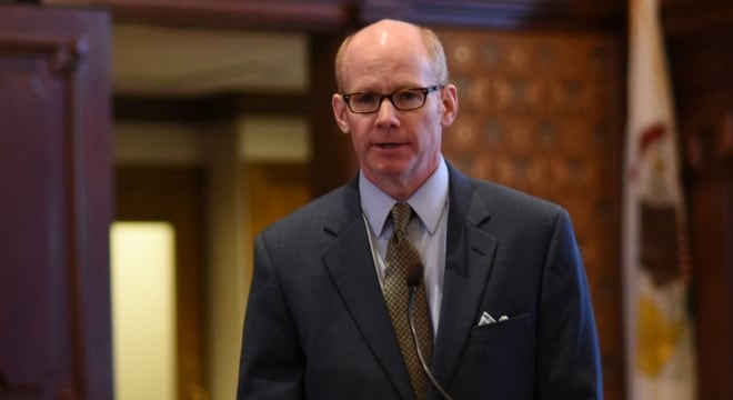 State Sen. Don Harmon, a Democrat who represents the Chicago adjacent village of Oak Park, says he will reintroduce the bill as an amendment to other legislation to keep it alive after a veto override ran out of time without action. (Photo: Ill. Senate Democrats)