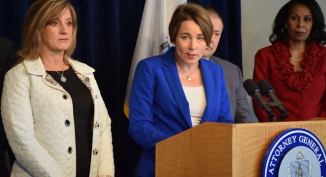 "In 2016 Massachusetts Attorney General Maura Healey expanded the state's ""assault weapon"" ban through a reinterpretation, which brought a legal challenge from FFLs and a firearm industry trade group. (Photo: Healey's office)"