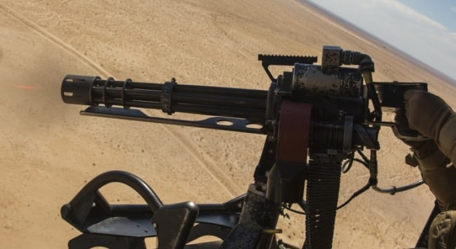 The M134 electric Minigun system is a six-barreled rotary machine gun chambered in 7.62x51mm NATO that can fire between 2000 and 6000 rounds per minute. (Photo: Department of Defense)