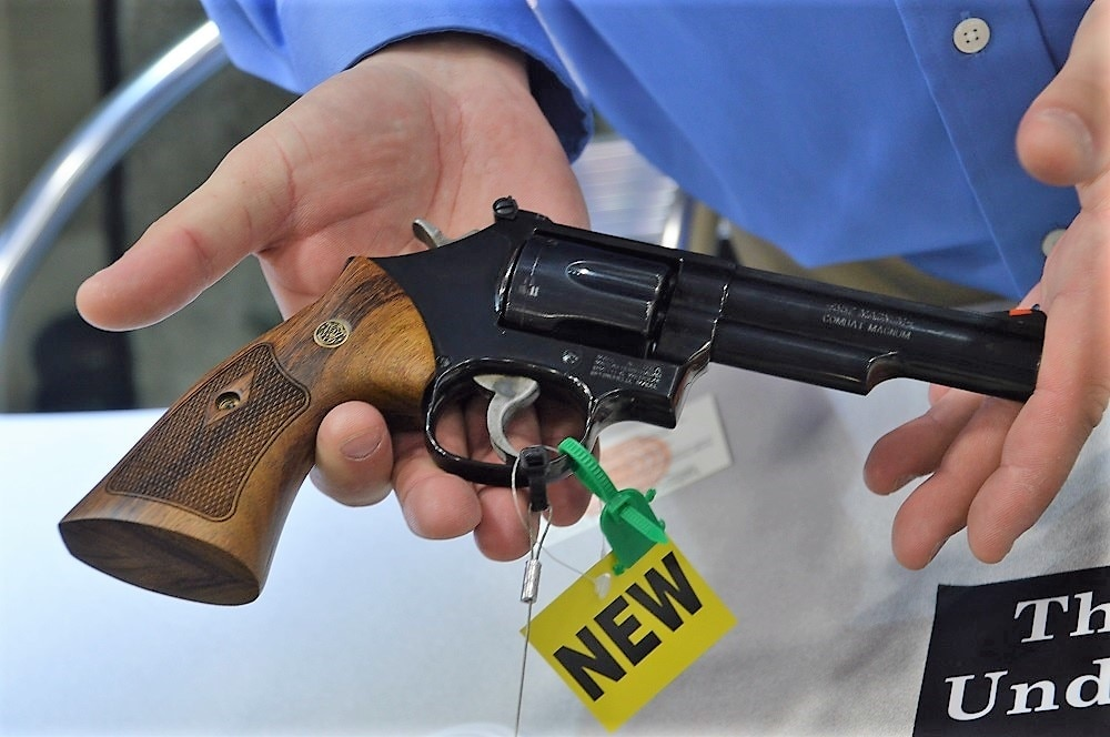 S&W has two variants of the K-frame Model 19 available, a classic 4.25-inch blued variant with wood grips, shown above, and a Carry Comp. (Photos: Chris Eger/Guns.com)
