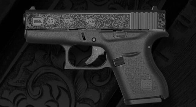 Celebrating Glock's millionth G43 is a special variant with hand engraving by Rob Bunting. (Photo: Glock)