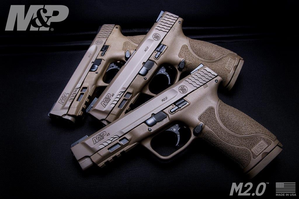 The M&P45 M2.0 in FDE completes the hat-trick started by the M&P9 and M&P40 (Photos: S&W)