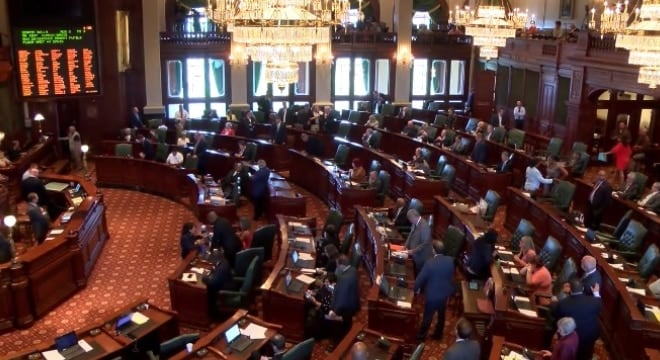 "The Illinois House approved a so-called ""red flag"" bill after brief debate on Wednesday. (Photo: Illinois GOP)"
