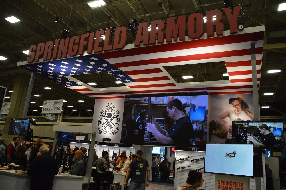 Springfield Armory's booth was buzzing with new products at the 147th National Rifle Association's Annual Meeting in Dallas. (Photos: Chris Eger/Guns.com)