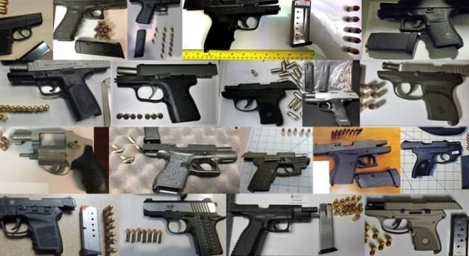 TSA discovered 90 firearms in carry-ons at their checkpoints last week including 26 on May 3 alone– a one-day record for the agency. (Photo: TSA)