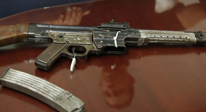 The vintage Schmeisser-designed Sturmgewehr was in police custody since 2009 and originally had been mailed by an American GI back home from Europe during WWII. (Photo: Stephen Katz/The Virginian-Pilot)