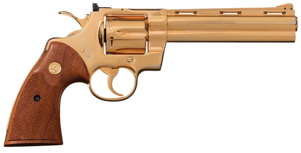 For those who are fans of Colt snake guns, or gold, this one has you