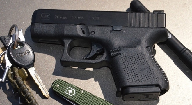 The Gen 5 Glock 26 was introduced this January and the DEA is in for 100 at this point-- with AmeriGlo night sights. (Photo: Chris Eger/Guns.com)
