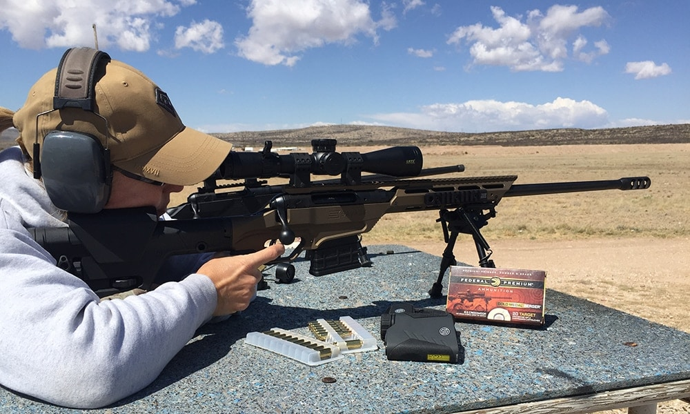 male shooting the ba 10 stealth evolution rifle