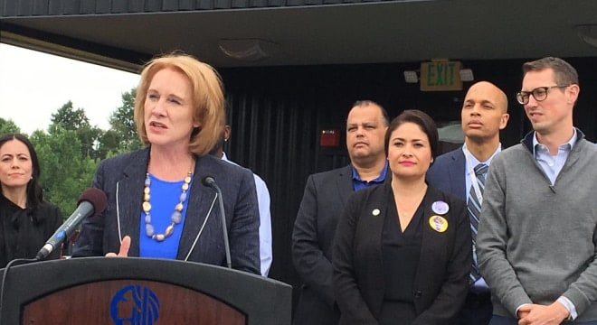 Seattle Mayor Jenny Durkan holds that requiring gun owners to lock up their firearms will make the area safer. (Photo: Durkan's office)