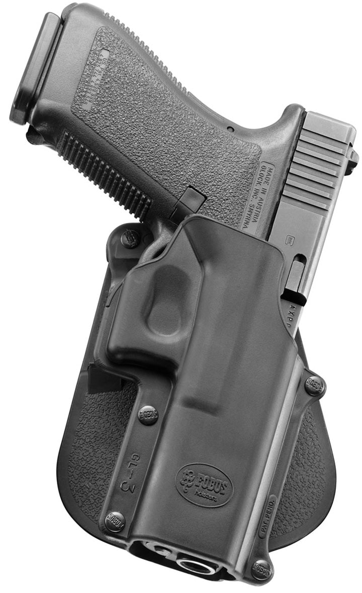 gun in an injection molded holster