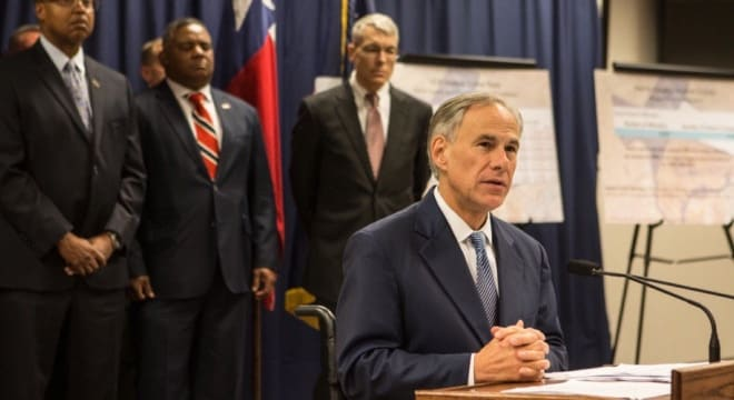 During the all-day hearing, Gov. Abbott made it clear on social media he didn't endorse so-called red flag legislation, and would not sign a bill if he thought it limited gun rights (Photo: Abbott's office)
