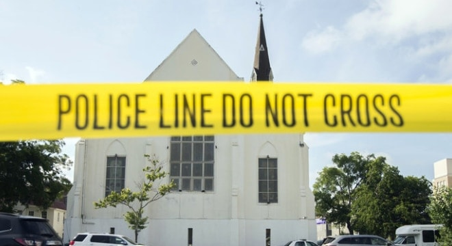 The parking lot behind the Emanuel African Methodist Episcopal Church in downtown Charleston, S.C. in June 2015. (Photo: Stephen B. Morton/AP)