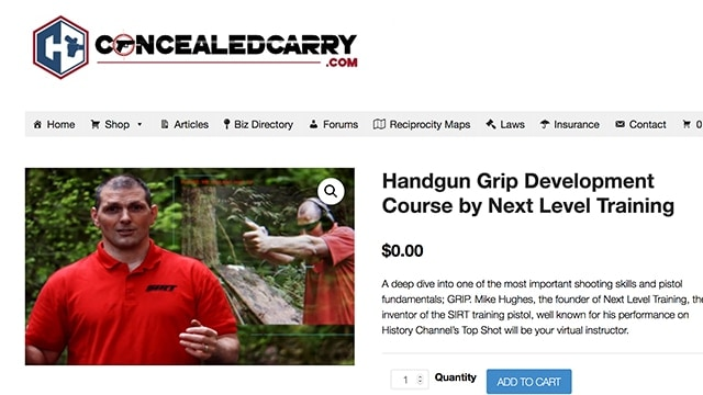 ConcealedCarry com unveils free online video shooting