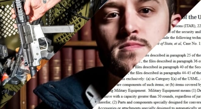 Cody Wilson's Defense Distributed organization has won a series a legal victories against gun control groups and the federal government in recent weeks, going on to be granted an exception by the U.S. State Department to export controls on 3-D printed gun files. (Photos: Collage of images from DefDist/State Department)