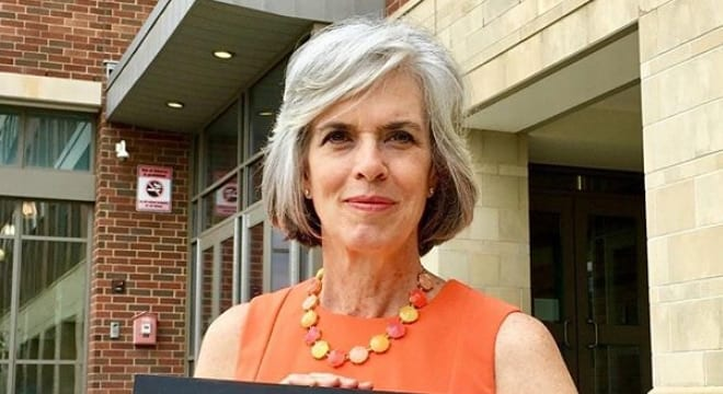 Rep. Katherine Clark, shown participating in a Wear Orange campaign in conjunction with Everytown, argues those with a history of abusing animals should lose their Second Amendment rights for good (Photo: Clark's Office)