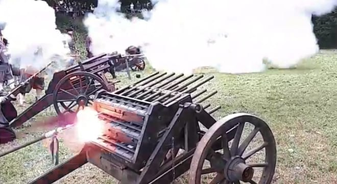 Playing the organ gun for those moments when you want to whistle up a cloud (VIDEO)